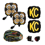 KC HiLites Flex Era 4 - 80W Spot Beam Pattern- 2 Light System